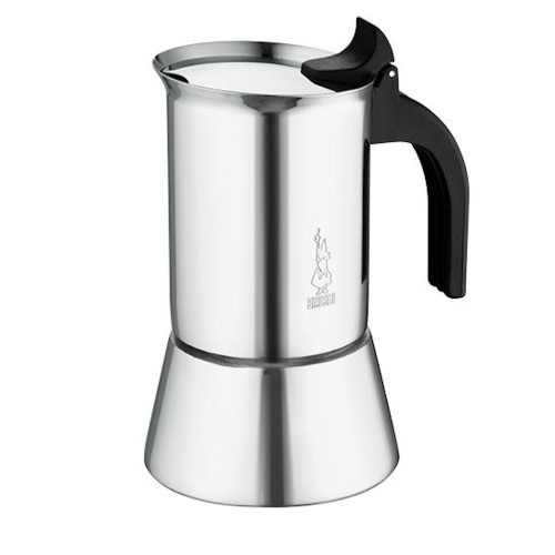 BIALETTI Stovetop Espresso Coffee Maker - 4 Cup - Venus - Stainless Steel