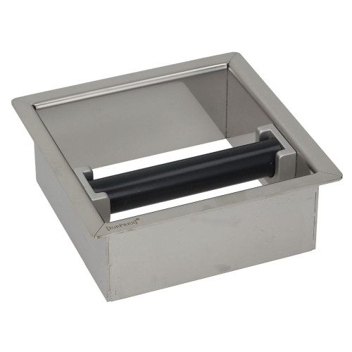 Coffee Waste Knock Bar - Countertop insert- 170x170x62 mm - Hole 146x146 mm - Stainless steel