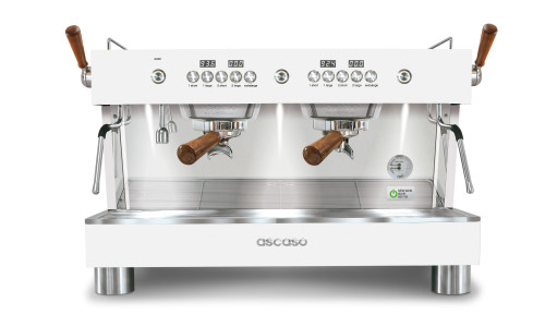 ASCASO BARISTA T PLUS 2-Group Multi-boiler PID 8-litre 3500w 20A White + Wood