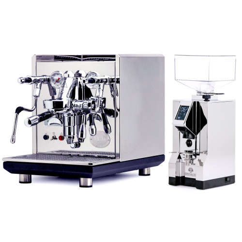 ECM SYNCHRONIKA e61 Double Boiler PID 0.75/2L Espresso Coffee Machine - V3 - STAINLESS STEEL - EUREKA MIGNON SPECIALITA Coffee Grinder - CHROME - Package