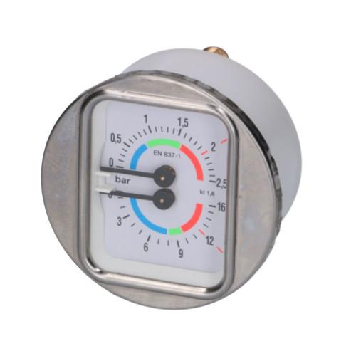 Boiler Pump Pressure Gauge White Face-OD 70mm Body-OD 63mm 1/8 BSP M Connection 1245022