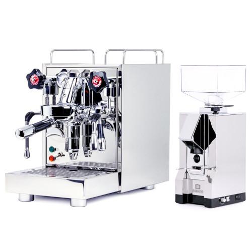 ECM MECHANIKA V SLIM e61 2.2L Espresso Coffee Machine - EUREKA MIGNON SILENZIO Coffee Grinder - CHROME - Package