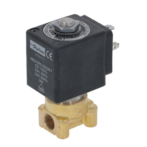"2-Way Electric Solenoid Valve 1/8"" BSPF - 1/8"" BSPF - 24V - 9W - PARKER"
