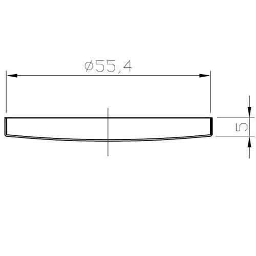 Precision shower screen MARZOCCO NANOQUARTZ - IMS MA200NT - OD56.4 mm 98x3 mm holes 200 µm membrane