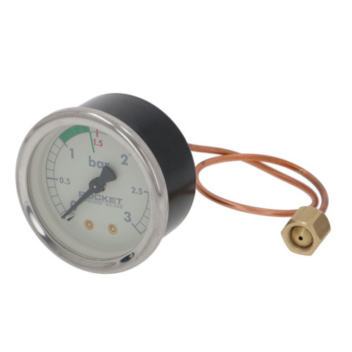 "Boiler Pressure Gauge 0 to 3 bar Beige Face OD 57.5 mm Hole 53 mm 1/8 "" BSPF Connection - ROCKET"