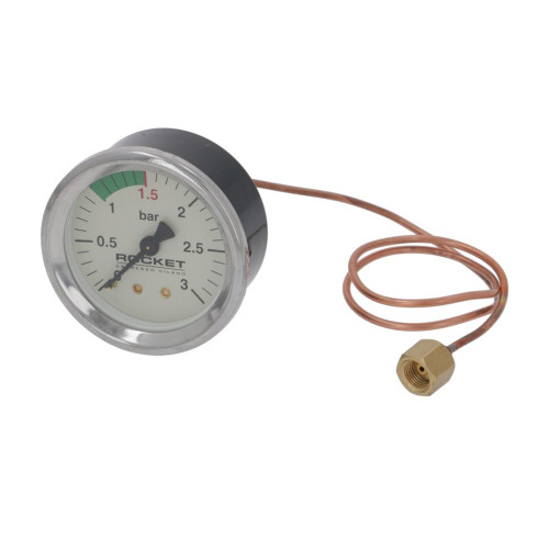 "Boiler Pressure Gauge Beige Face OD 65 mm Hole 60 mm 1/8 "" BSPF Connection - ROCKET"