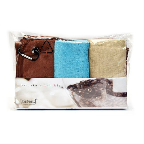 JOEFREX cleaning cloth kit for baristas - 4x Microfibre cleaning cloths