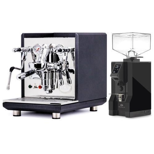 ECM SYNCHRONIKA e61 Double Boiler PID 0.75/2L Espresso Coffee Machine - V2 - BLACK - EUREKA MIGNON SPECIALITA Coffee Grinder - BLACK - Combo
