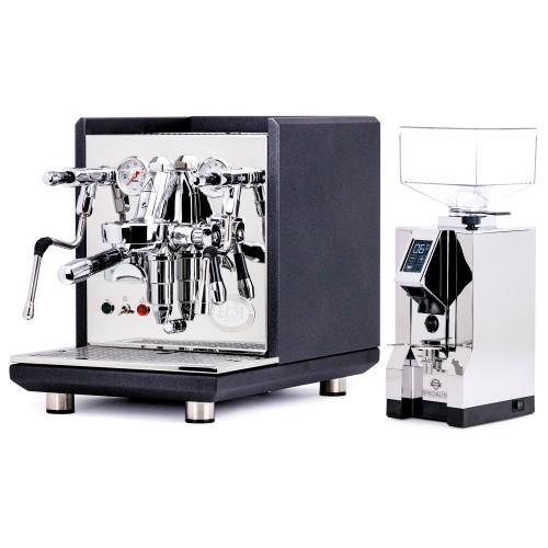 ECM SYNCHRONIKA e61 Double Boiler PID 0.75/2L Espresso Coffee Machine - V2 - BLACK - EUREKA MIGNON SPECIALITA Coffee Grinder - CHROME - Combo