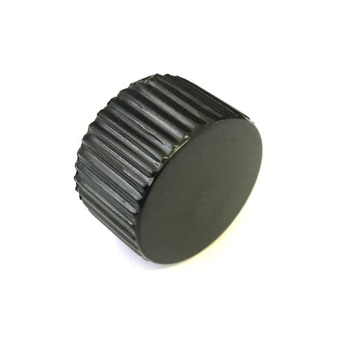 Knob / Handle OD 28mm - Black Plastic - D-shaft