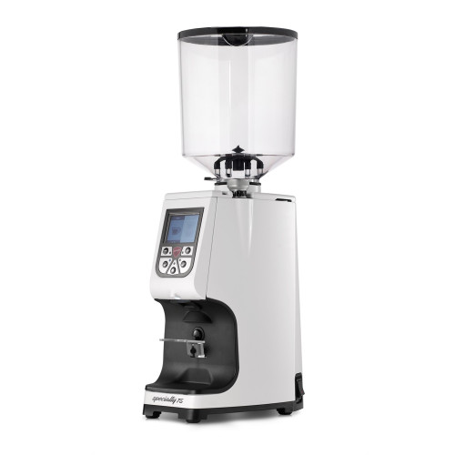 EUREKA Atom Specialty 75mm Flat Burr Doser-less Coffee Grinder - White