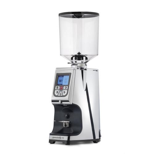 EUREKA Atom Specialty 75mm Flat Burr Doser-less Coffee Grinder - Chrome