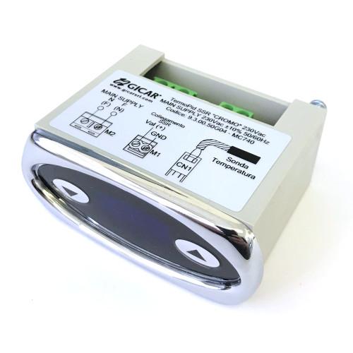 PID Controller Silver Bezel Blue Digits 230V GICAR 9.3.00.50G04