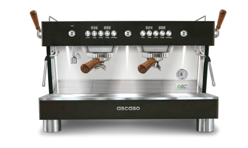 ASCASO BARISTA T PLUS 2-Group Multi-boiler PID 8-litre 5700w 25A Black + Wood