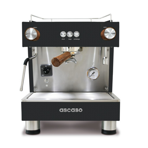 ASCASO BAR ONE 1 Group 4L 2400w 10A Plumbed Black + Wood Commercial Espresso Coffee Machine