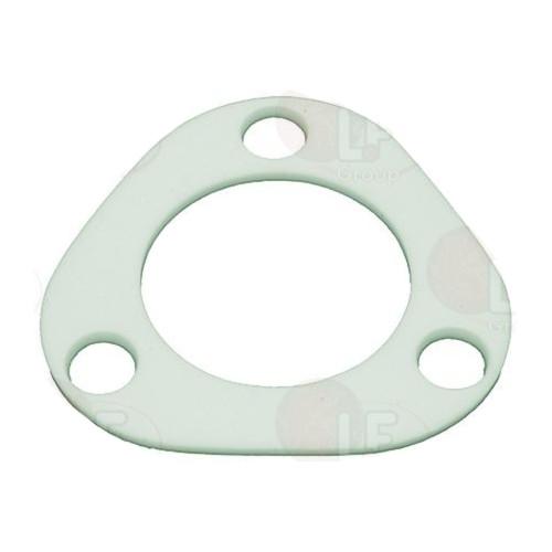 Flat Gasket Triangular 70x70x2 mm - Internal Hole OD 40 mm - PTFE Teflon