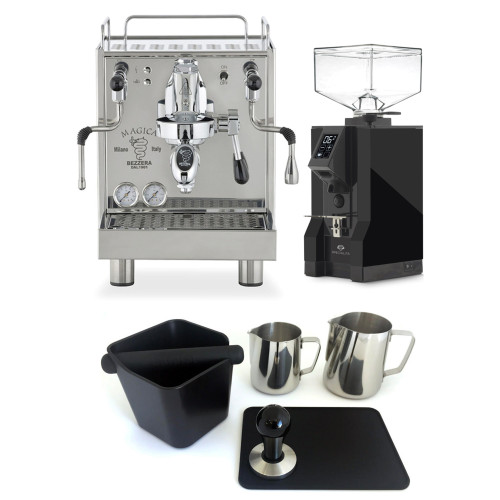 BEZZERA MAGICA e61 2L Espresso Coffee Machine - EUREKA MIGNON SPECIALITA Coffee Grinder - Black - Combo - With Accessory Package
