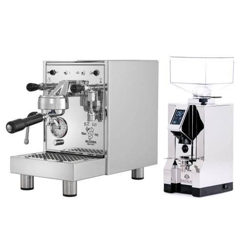 BEZZERA BZ10 1.5L Espresso Coffee Machine - EUREKA MIGNON SPECIALITA Coffee Grinder - CHROME - Combo