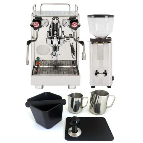 ECM MECHANIKA V SLIM e61 2.2L Espresso Coffee Machine - ECM C-MANUAL Coffee Grinder - Combo - With Accessory Package