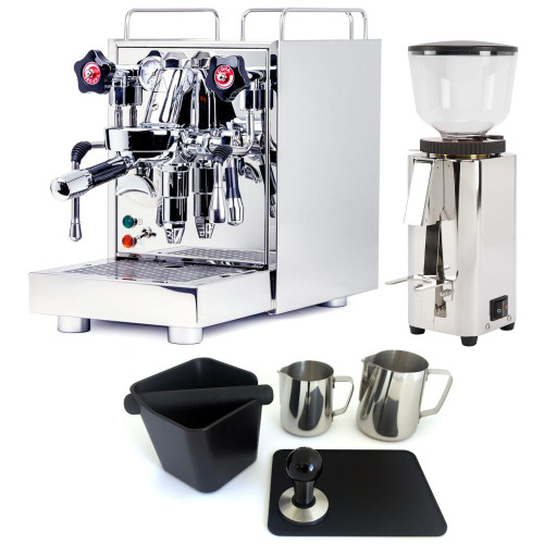 ECM MECHANIKA V SLIM e61 2.2L Espresso Coffee Machine - ECM C-MANUAL Coffee Grinder - Combo - With Accessory Package