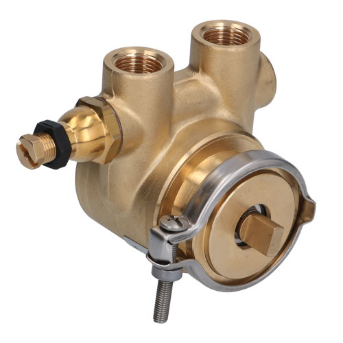 "Rotary Vane Pump - Clamp 58.5mm - 3/8"" BSP/GAS - Flat Shaft - 100 L/h - FLUID-O-TECH - ROTOFLOW"