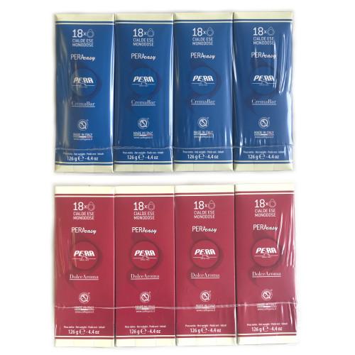 "CAFFE PERA CREMA BAR ""ORO"" and DOLCE AROMA ""CLASSICA"" - ESE Espresso Coffee Pods - 50:50 Mixed 144x pack"