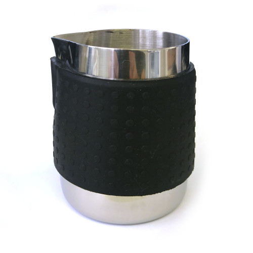 Milk Steaming / Frothing Jug - Stainless Steel - Insulating Sleeve - 350mL