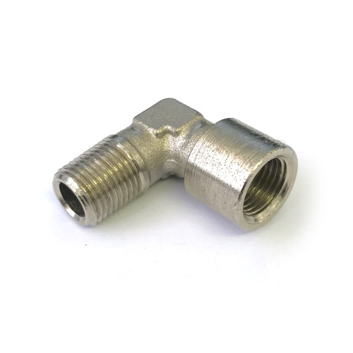 "L-Fitting 1/8"" BSPM - 1/8"" BSPF - Nickel Plated"