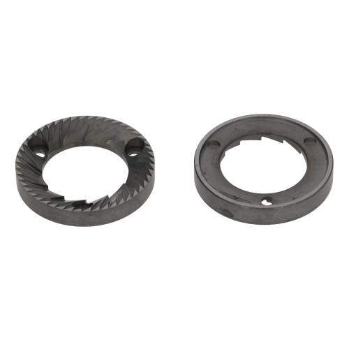 Coffee Grinder Blades / Burrs Flat 50x31x8mm LH SX CCW 3 hole (Pair) - RANCILIO ROCKY / MD40