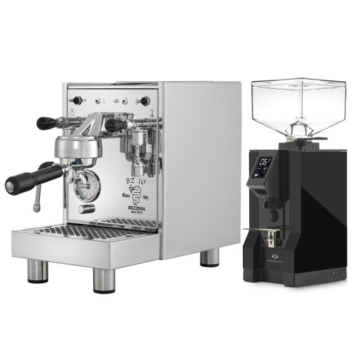 BEZZERA BZ10 1.5L Espresso Coffee Machine - EUREKA MIGNON SPECIALITA Coffee Grinder - Black - Combo
