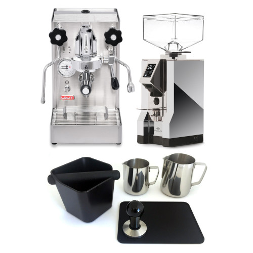 LELIT PL62X MaraX e61 1.8L Espresso Coffee Machine - EUREKA MIGNON SPECIALITA Coffee Grinder - CHROME - Combo - With Accessory Package