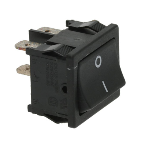 "Black DPST Switch ""I/O"" - 20mm x 22mm - 16A 250V"