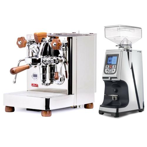 LELIT PL162T BIANCA e61 Double Boiler PID 0.8/1.5L Espresso Coffee Machine - V2 - EUREKA ATOM 60 Coffee Grinder - CHROME - Package