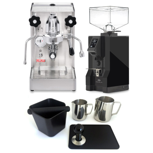 LELIT PL62X MaraX e61 1.8L Espresso Coffee Machine - EUREKA MIGNON SPECIALITA Coffee Grinder - BLACK - Combo - With Accessory Package