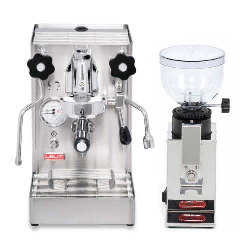 LELIT PL62X MaraX e61 1.8L Espresso Coffee Machine - LELIT PL043 FRED Coffee Grinder - Combo