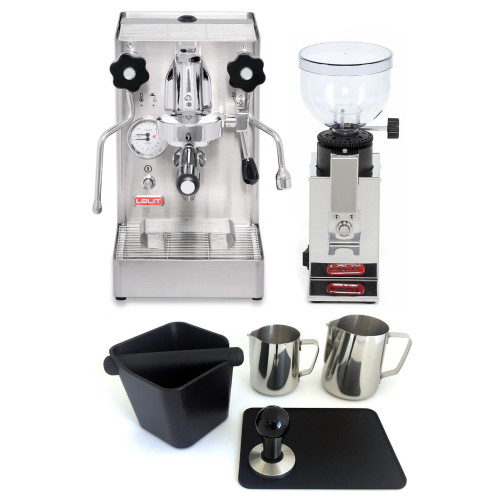 LELIT PL62X MaraX e61 1.8L Espresso Coffee Machine - LELIT PL043 FRED Coffee Grinder - Combo - With Accessory Package