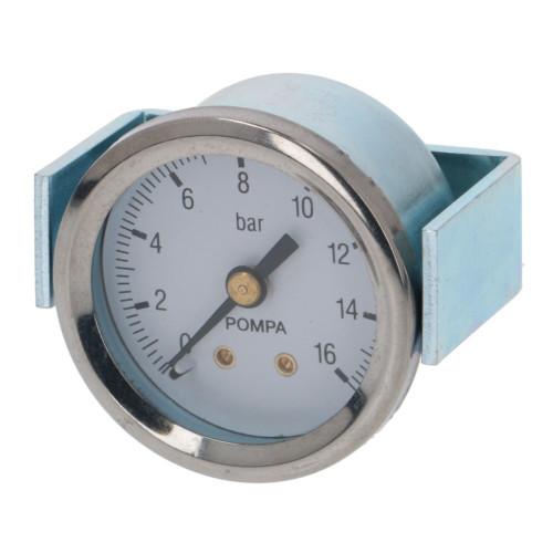 "Pump Pressure Gauge / Manometer 0-16 BAR - OD 44mm Hole 39mm 1/8"" BSPM Connection - 7432523"