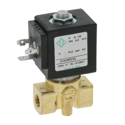 "2-Way Electric Solenoid Valve 1/8"" BSPF - 1/8"" BSPF - 230/240V - 8W - 212A3KV30 - ODE"
