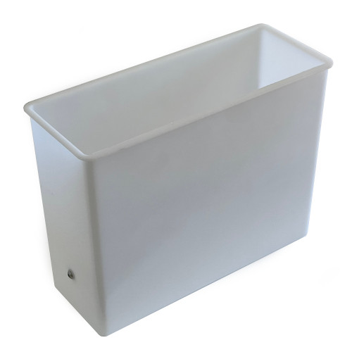 Water tank / container - with base connection - 246mm x 98mm x 187mm - White Plastic - BEZZERA 7373006LL