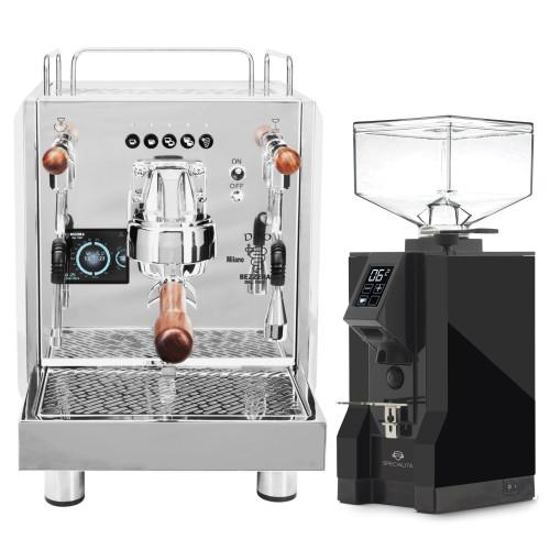 BEZZERA DUO DE Double Boiler PID 0.45/1.0L Espresso Coffee Machine - EUREKA MIGNON SPECIALITA Coffee Grinder - BLACK - Combo