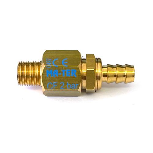 """Boiler Pressure Safety Release  Valve - 2 bar - 1/8"""" GAS - 7mm"""