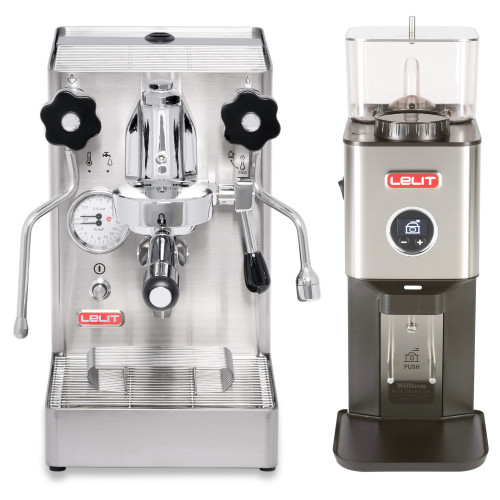 LELIT PL62X MaraX e61 1.8L Espresso Coffee Machine - LELIT WILLIAM Coffee Grinder - Combo