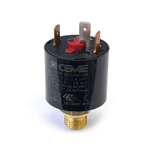 "Pressure Switch 0.2 BAR - 6 BAR - 1/4"" BSPM - 15A - CEME"