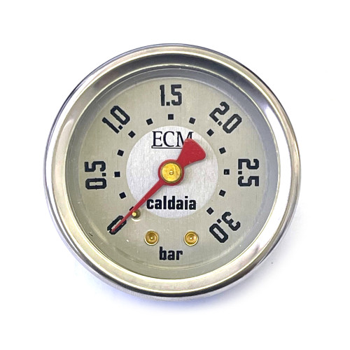 "Boiler Pressure Gauge Manometer 0-3 bar - White Face - OD 57.5mm - Hole 52.5mm 1/8"" BSPF Connection"