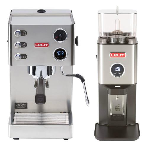 LELIT PL91T VICTORIA PID Espresso Coffee Machine - LELIT WILLIAM Coffee Grinder - Combo