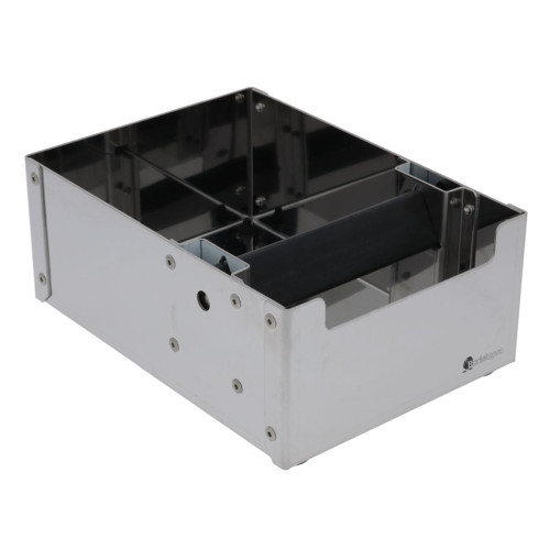 Coffee Waste Knock Box - 225mm x 165mm x 95mm - STAINLESS STEEL - BARISTAPRO
