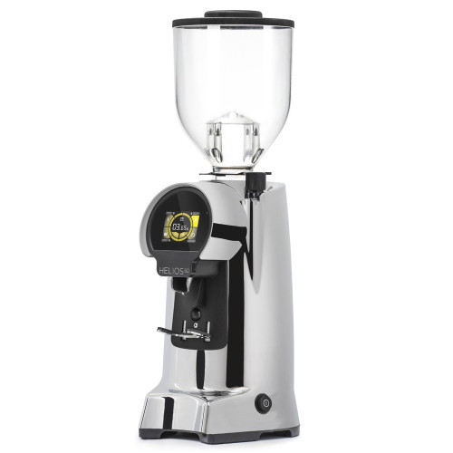 EUREKA HELIOS 80mm Flat Burr Doser-less Coffee Grinder - CHROME