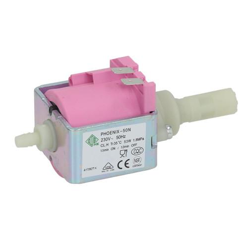 ODE PHOENIX 50N Espresso Machine Vibration Pump - OUT 1/8 BSPF - 6 mm IN - 53W 50Hz 230V
