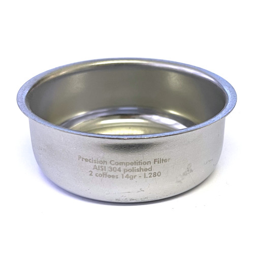 Coffee Filter Basket 2-CUP Double 14g - ID 57mm - 64.5mm x 23.5mm - PRECISION - ASCASO I.280