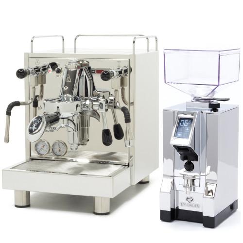 BEZZERA MAGICA e61 PID 2L Espresso Coffee Machine - EUREKA MIGNON SPECIALITA Coffee Grinder - CHROME - Package